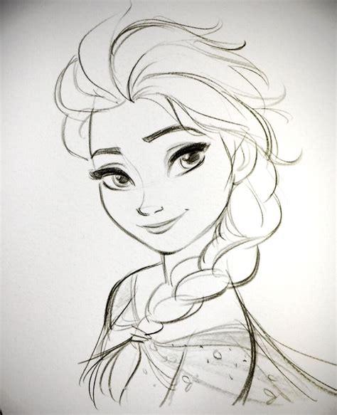 doodle draw elsa hair so many elsa references xd dibujos