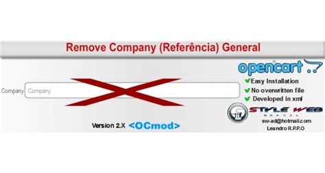 Referencia General by Opencart Remove Field Company Refer 234 Ncia General