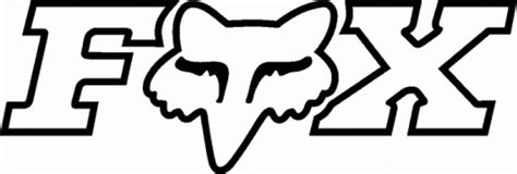 Dirt Bike Wall Stickers free coloring pages of fox rafox racing logo