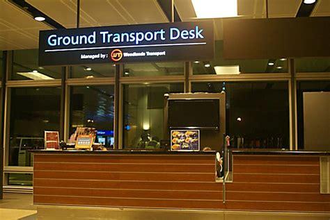 Transport Desk singapore changi international airport information for tourist