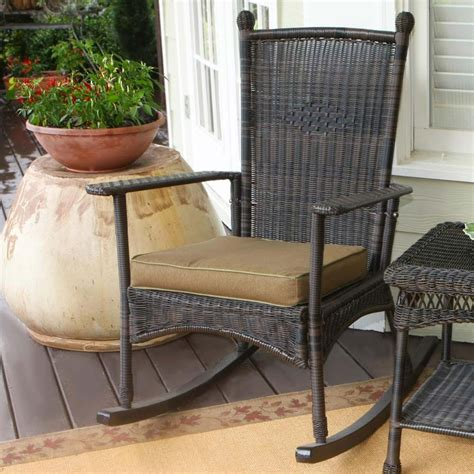 Wicker Rocking Chairs For Porch tortuga outdoor portside classic wicker rocking chair wickercentral
