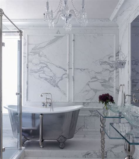 white and gray marble bathrooms bathroom wainscoting eclectic bathroom fgy architects