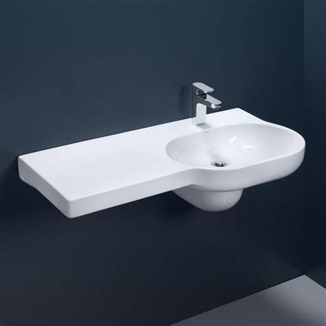 Bath And Shower Mixer caroma opal 920 left hand shelf wall basin design content