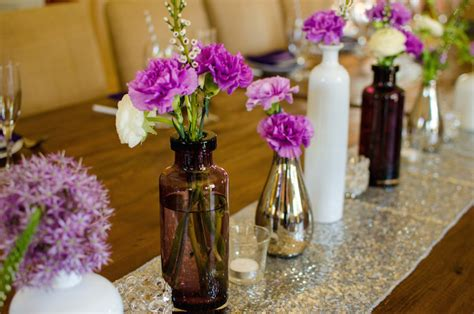 Purple Bridal Shower Decorations by Kara S Ideas Purple Silver Bridal Shower