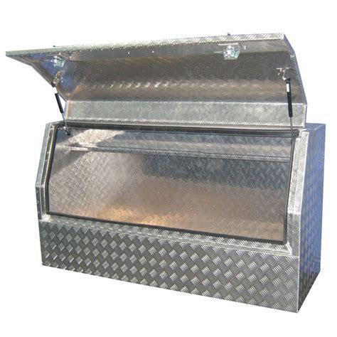 tool box rhino 1500 x 530 x 820mm highside checkerplate tool box