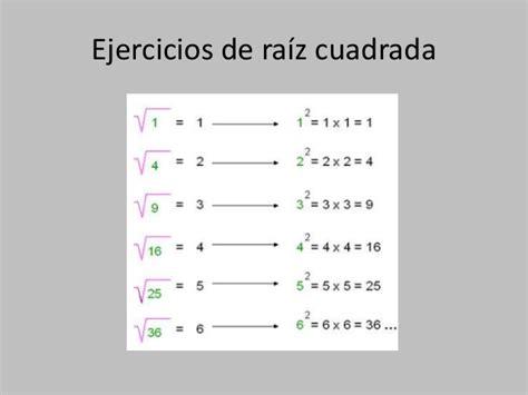 ejercicio de la raiz cuadrada potencias y ra 237 z cuadrada
