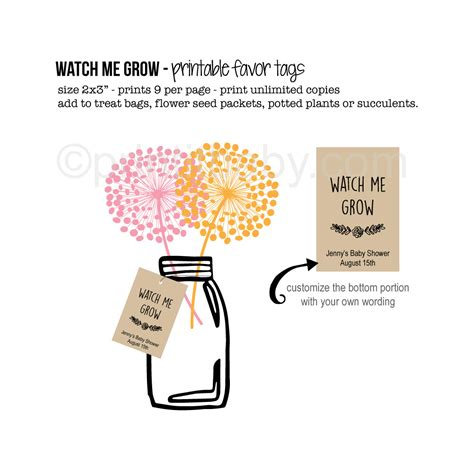 Baby Shower Favors Tags by Baby Shower Favor Tag Printables Cutestbabyshowers