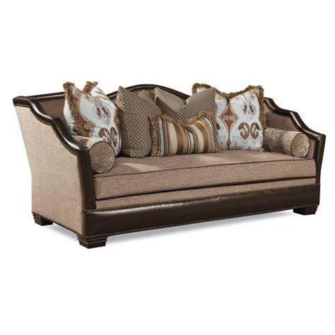 Fabric Leather Sofa Combination by Huntington House Sofa 7461 20 Leather Fabric Combination