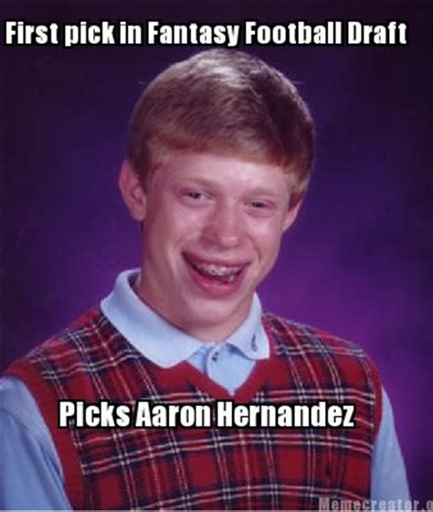 Fantasy Football Draft Meme - meme creator first pick in fantasy football draft picks