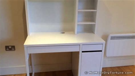 Dual Desk Office Ideas study desk ikea micke wrokstation youtube