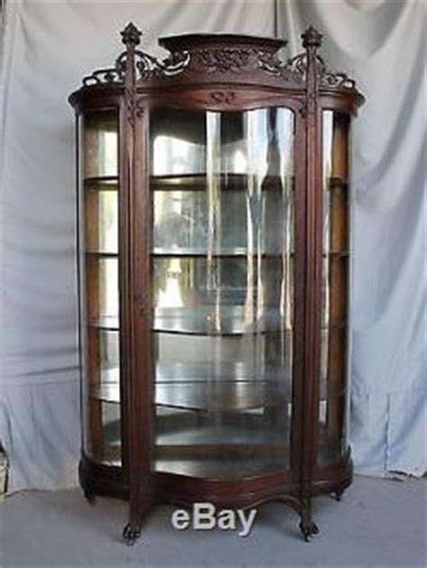 art nouveau china cabinet antique oak china curio cabinet art nouveau style beautiful