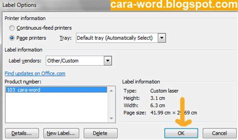cara membuat format jurnal di ms word cara membuat label undangan di ms word cara word