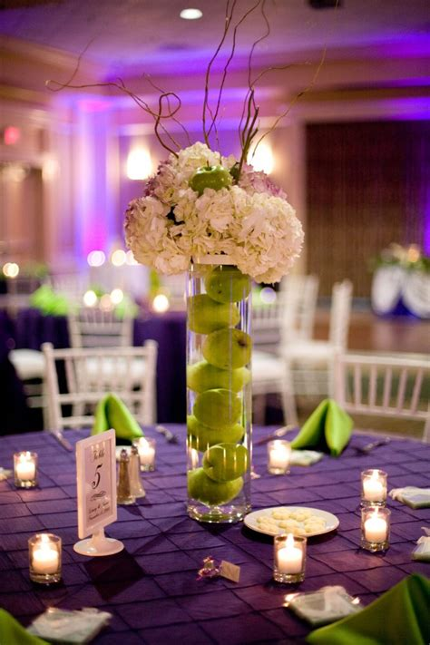 wedding table decorations purple and green purple and green wedding centerpieces ta wedding linen rentals kate linens specialty