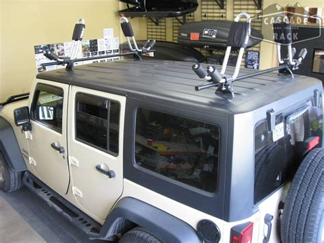 jeep kayak rack custom jeep rack with thule hull a port kayak racks jeep