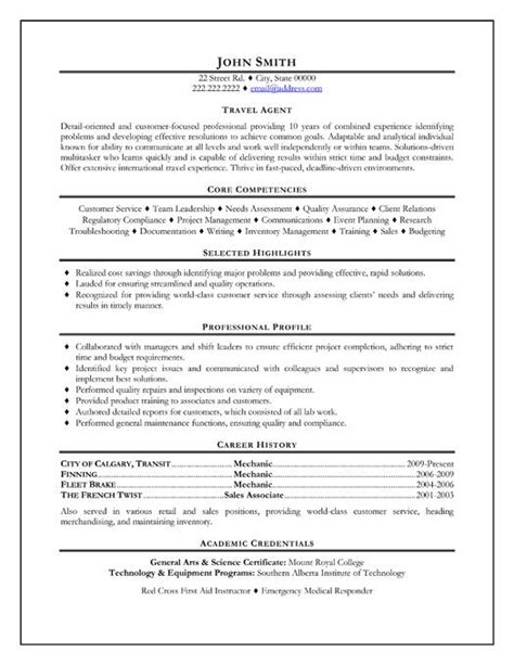 Agency Sle Resume by Click Here To This Travel Resume Template Http Www Resumetemplates101