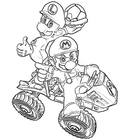 mario kart 8 coloring sheets coloring pages