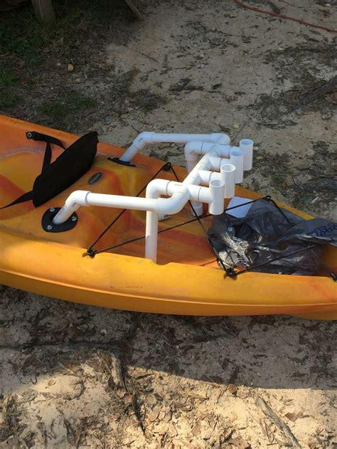 diy fishing rod holder diy pvc rod holder for kayak fishing made for 1 quot thin wall
