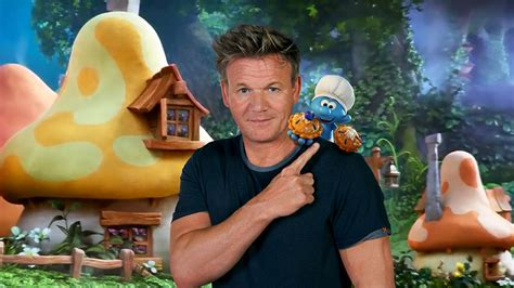 exclusive here s what gordon ramsay will look like as a smurf food wine