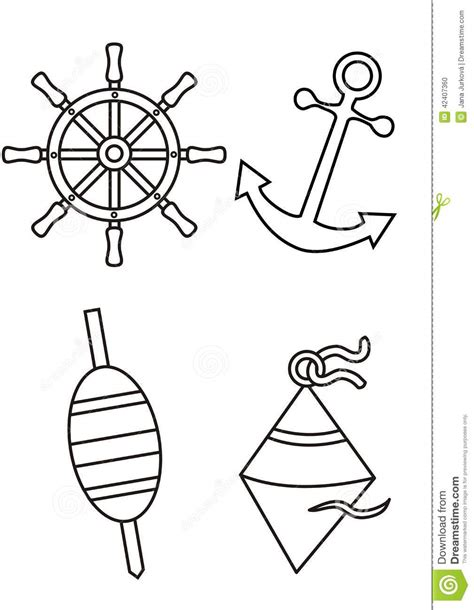 6 best images of nautical free printable coloring pages