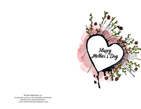 Printable Happy Mothers Day