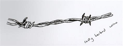 Hazel Twig Barbed Wire Barb Wire Drawings