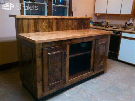 diy kitchen island bar magnificent two tier pallet kitchen island 1001 pallets