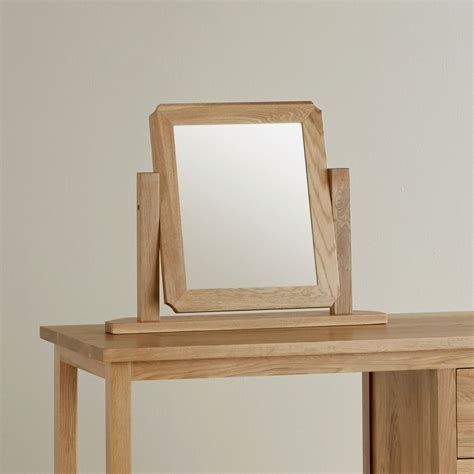 oak vanity table with mirror and bench cairo dressing table mirror in solid oak oak furniture land