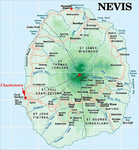 nevis island nevis island maps a collection of maps for nevis island