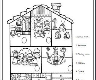 printable coloring pages rooms house rooms in the house elementary worksheet