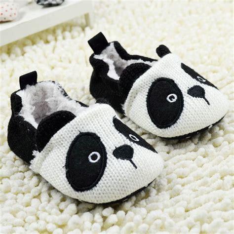 Panda Crib by Toddler Boy Warm Bootee Crochet Knit Shoes Newborn