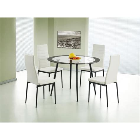 Acodia Dining Set Clear Glass Black Brixton Beds Clear Dining Room Set