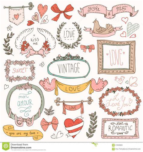 free doodle design elements vintage label set doodles and design elements