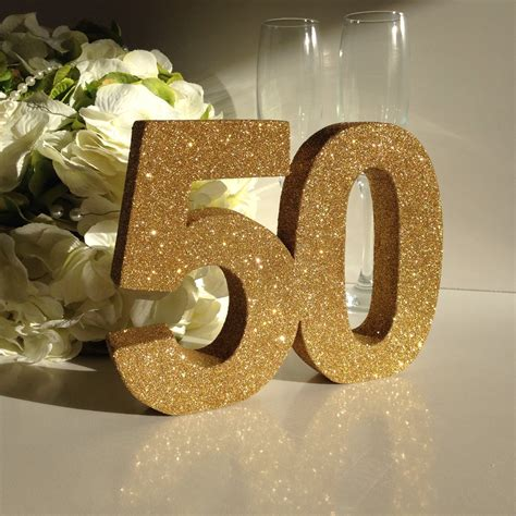 50th Birthday Decorations For by Gold 50th Birthday Decoration 50th Anniversary