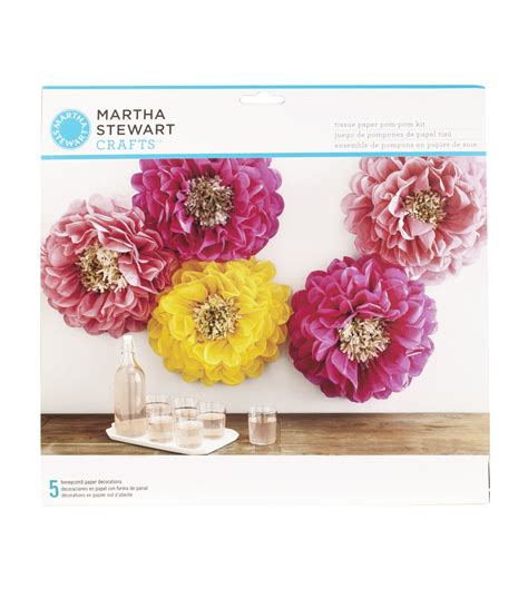 Martha Stewart Crafts Paper Flowers - martha stewart tissue paper pom pom kit chrysanth flowers