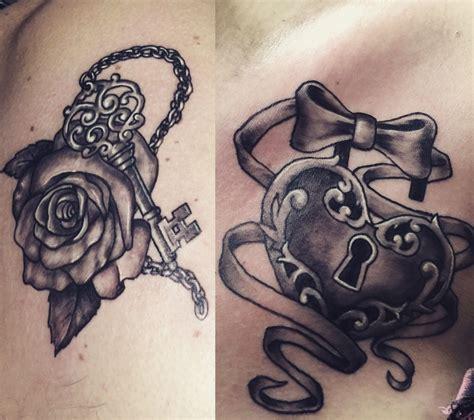 lock key tattoos couples lock and key