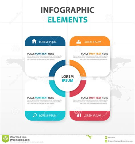 Add Website Text Box To Business Card Template In Word by Abstract Colorful Text Box Business Infographics Elements