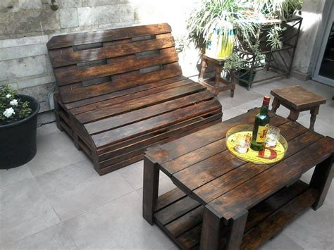 Pallet Wood Outdoor Furniture Set Outdoor Furniture Sets Outdoor Wooden Furniture