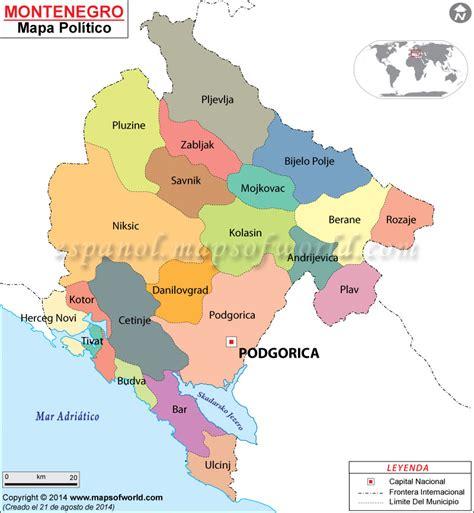 donde se localiza croacia montenegro mapa mapas mapa politico y croacia