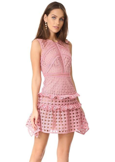 Sale Dresses 100 At Shopbop Part 3 by Self Portrait Self Portrait Crosshatch Frill Mini Dress