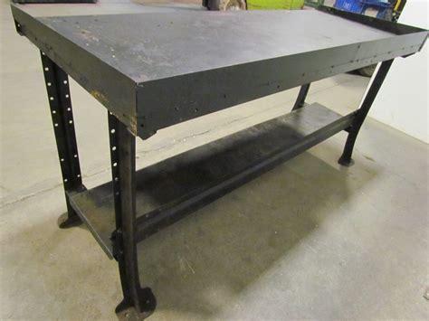 industrial metal work bench vintage industrial steel 4 leg workbench table 72 quot x28 quot x34