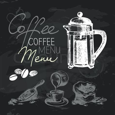 Jobs In Kitchen Design by Coffee Hand Drawn Chalkboard Design Set Black Chalk
