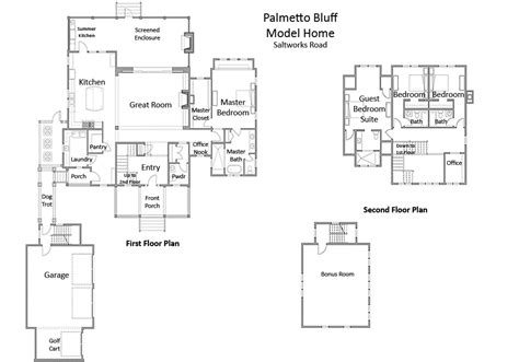 Palmetto Bluff Floor Plans by Palmetto Bluff Model Plan