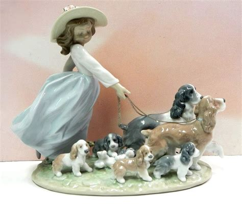 ebay puppies puppy parade walking dogs and puppies figurine by lladro 6784 ebay