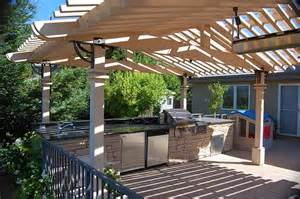 Outdoor Kitchen Pergola Ideas by Outdoor Kitchen Designs Wood Trend Home Design And Decor