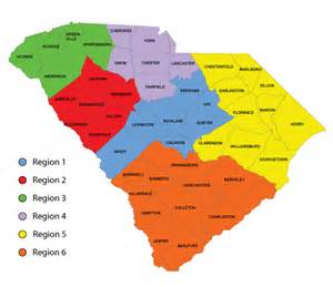 south carolina district map map