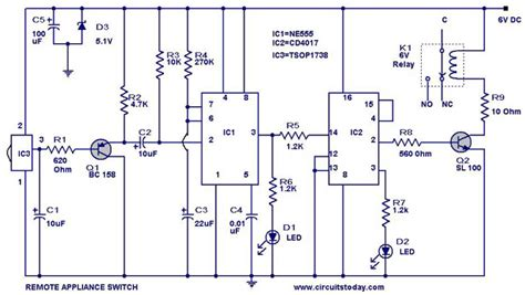 remote controlled appliance switch circuit todays
