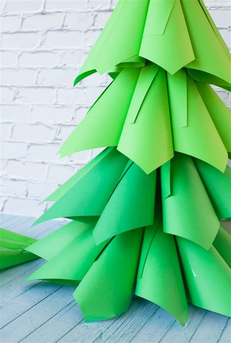 how to make a 3ft cardboard christmas tree 45 cone shaped trees shelterness