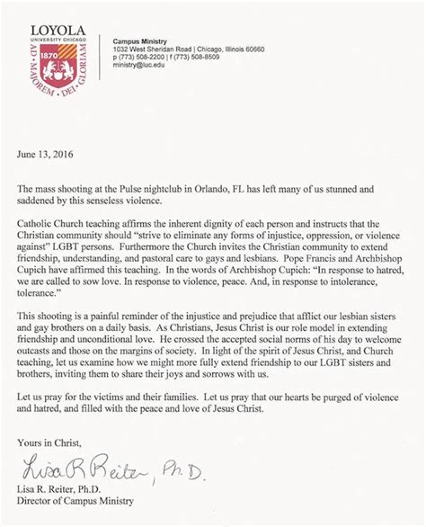 Loyola Acceptance Letter Luc Cus Ministry Orlando Ignatian Solidarity Network