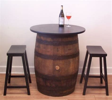Barrel Bar Table Vintage Whiskey Barrel Pub Bistro Bar Table W 2 24 Quot Saddle Seat Ba