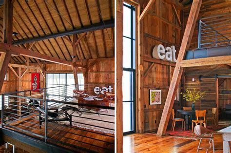 modern michigan barn house conversion  rustic